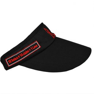 '1st Love Visor' Headwear - Black - Yootopea Golf Apparel