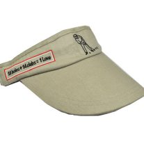 '1st Love Visor' Headwear - Tan - Yootopea Golf