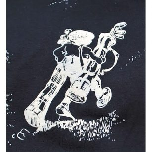 Up Hill Battle T-shirt close up - Yootopea Golf Apparel