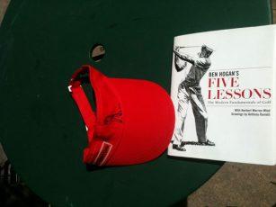 '1st Love Visor' Headwear - Red - Yootopea Golf Apparel
