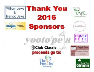 2016 Thank You Sponsors 3 Club Classic 2016
